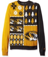 NCAA Klew Missouri Tigers Busy Block Colorful Ugly Sweater - $54.95