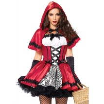 Leg Avenue Women's Gothic Red Riding Hood Costume Red and White Small - $46.02
