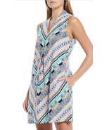 Tommy Bahama Grand Isle Shift Dress Linen White green blue Size S Small ... - £34.82 GBP