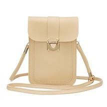 WOZEAH Crossbody Purse And Handbags Mini Cellphone Pouch Wallet Bag khaki - $15.03