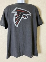 NFL Team Apparel Men Size XL Gray Atlanta Falcons Football T Shirt Short Sleeve  - $15.84