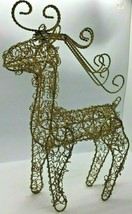 Gold Twisted Wire Reindeer Buck Christmas Deer Centerpiece Antlers Glitt... - $24.74