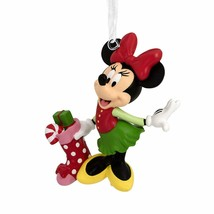 Minnie Mouse With Polka Dot Stocking Christmas Tree   Ornament Hallmark... - $20.69
