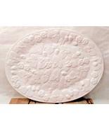 Large White Platter Raised Strawberry Design Portugal - $19.79
