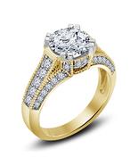 Womens Designer Diamond Engagement Ring 14k Gold Finish 925 Sterling Rea... - £56.38 GBP