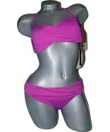 NWT VITAMIN A 8 M designer swimsuit bikini 2PC berry bandeau sangria berry  - $96.99