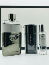 Gucci Guilty Pour Homme Cologne 3.0 Oz Eau De Toilette Spray 3 Pcs Gift Set image 4