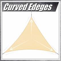 ColourTree 16' x 16' x 22.6' Right Triangle Grey Sun Shade Sail Canopy Awning Su image 8