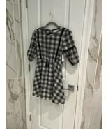 BCBG Girls Black White Tartan Plaid Tassel Tie Dress Size 14 New With Tags! - $10.66