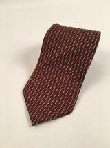 Vintage Brooks Brothers Tie Brown Orange Pure Silk Made in USA Printed i... - $14.20
