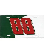 Dale Earnhardt Jr. #88 Aluminum Metal Vanity License Plates (Green/Red/W... - $10.95