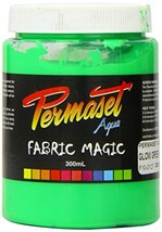 Permaset Aqua Super 300ml Fabric Printing Ink - Glow Green - $36.19