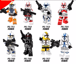 8pcs Fit Lego Clone Trooper Figure PG8078 Stormtrooper Building Block Br... - $19.99
