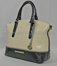 NWT Brahmin Duxbury Satchel/Shoulder Bag in Ivory Tri-Texture - $269.00