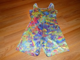 Size Medium Future Star Capezio Dance Gymnastics Unitard Leotard Multi C... - $18.00