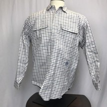 Men's Red White & Blue Plaid Tommy Hilfiger Long Sleeve Button Shirt Size M - $14.78