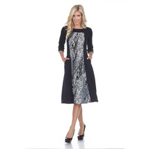 Constance Midi Dress - Grey Snake image 1