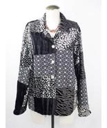 STONEBRIDGE Black Line Embroidered patchwork Light Women's Blazer Jacket... - $12.19