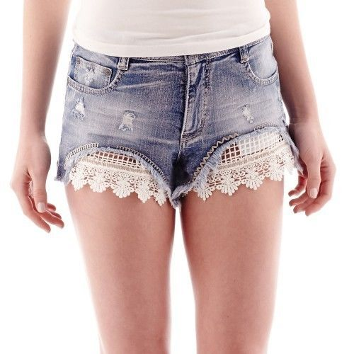 Primary image for Vanilla Star Festival Denim Shorts Size 1 New Msrp $36.00
