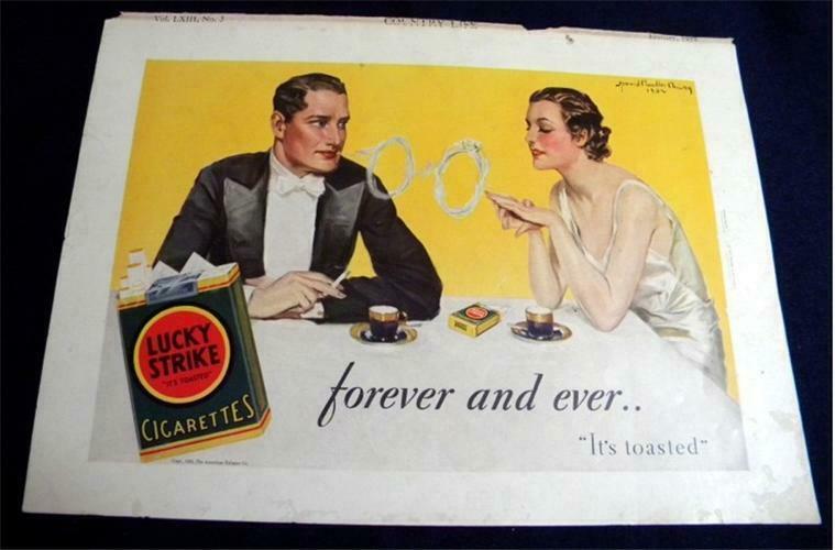1932 Lucky Strike Ad; Howard Chandler Christy - $1.50