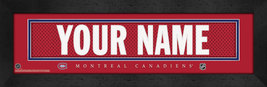 "Personalized Montreal Canadiens Stitched Team Jersey 8"" x 24"" Framed Print - $39.95"