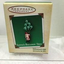 2004 Santa's Balloon Tree Mini Hallmark Christmas Tree Ornament MIB Price Tag H7 - $9.41