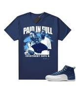 Paid In Full Vintage Movie Unisex Tee Shirt to Match Air Jordan 12 Indigo Blue - $19.99 - $25.99