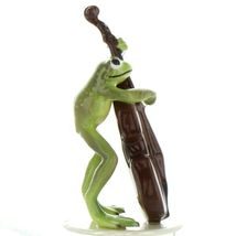 Hagen Renaker Frog Froggy Mountain Breakdown Double Bass Ceramic Figurine image 5
