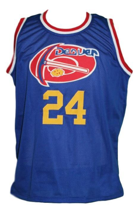 Bobby jones  24 denver aba retro basketball jersey blue   1