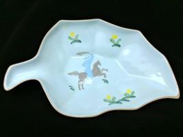 Leaf Shaped Bowl Vally Werner Persian Garden California Arabian Horse Rider - $27.71
