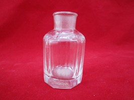 OLD VINTAGE ANTIQUE VICTORIAN CUT GLASS PERFUME BOTTLE COLLECTIBLE - $40.10