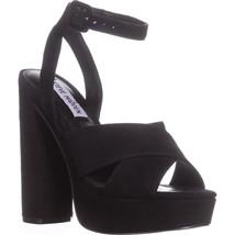 Steve Madden Jodi Platform Sandals, Black, 8 US - $36.47