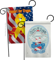 God is Light - Impressions Decorative Support Our Troops Garden Flags Pack GP103 - $30.97