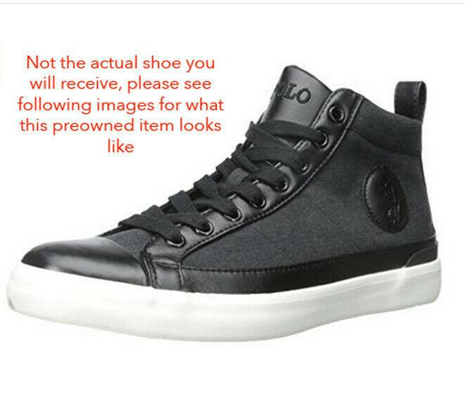Black Polo Ralph Lauren Clarke-SK-VLC Fashion Sneaker, Size 7D Mens