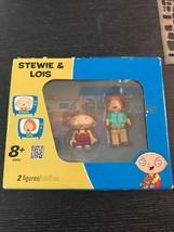 Stewie & Lois KNEX 2 Figures Family Guy K'Nex Building Set 44042 TV Show - $33.85