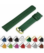 Leather Strap Watch Band Buckle Quick Release Genuine Gold 18mm 20mm 22m... - $50.42+