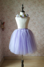 Flower Girl Tutu Skirts Light Purple Girl Skirts for Wedding image 1