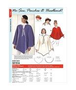 Logeso(TM) No Sew Ponchos & Headband Misses' & Girls' S M L XL Pattern K... - $7.91