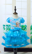 Fancy Elsa Princess Dress Girl Costumes for Kids Snow Queen Party Cospla... - $13.99