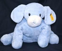 "Steiff Baby Blue Treff Puppy Dog 12"" Plush Stuffed Lovey Ear Button & Ta... - $22.95"
