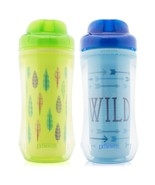 Dr Brown's BPA Free 2 Pack 10 Ounce Spoutless Insulated Cup - Boy Blue G... - $16.99