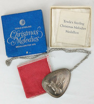 Vintage Towle Sterling Silent Night Holy Night Christmas Medallion 1978 ... - €132,12 EUR
