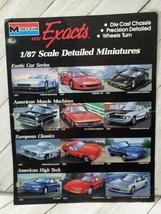 Monogram 1pg advertisement 1/87 scale deals miniatures exotic muscle 1989 (A10) - $9.90