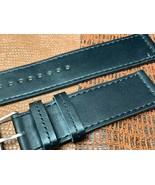 24mm Italian genuine leather watch band   Black Premium calf fit Panerai - $20.57