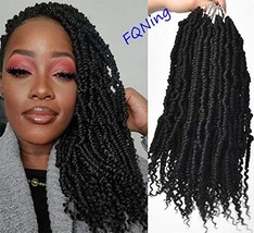 Spring Twist Crochet Braids Soft Curly Ends Pre-twisted Bomb Twist Hair ... - $35.24