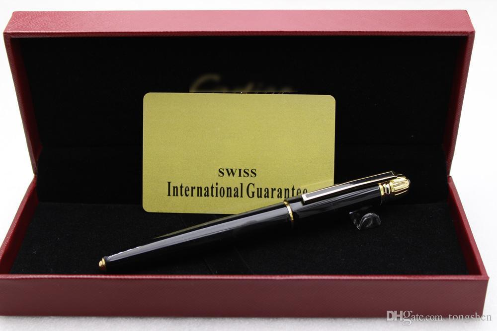 Ct pen sets Limited edition series Black Color Golden Clip Roller Ball Pen for w