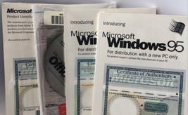 Vintage 1995 Microsoft Windows 95 Word Excel CD-ROM Sealed Office 97 NOS - $97.99
