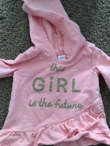 Baby Girl Carter's Pink Hoodie Pullover Sweater 18Mo Soft —527 - $12.55