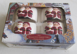 Publix The Season Greeters Collectible Santa & Mrs. Claus Christmas (4) ... - $13.99