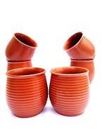 Allygater Stylish Brown Shade Kulhar tea cup coffee mug Set of 6. Natura... - $25.74